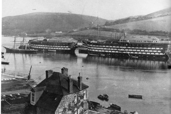 HMS HINDUSTAN-1-DARTMOUTH-HMS BRITANNIA TO RIGHT-TB